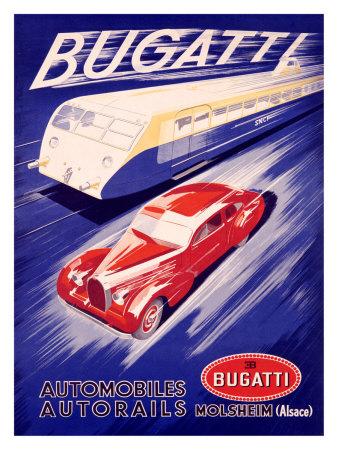 Art Deco Bugatti Poster