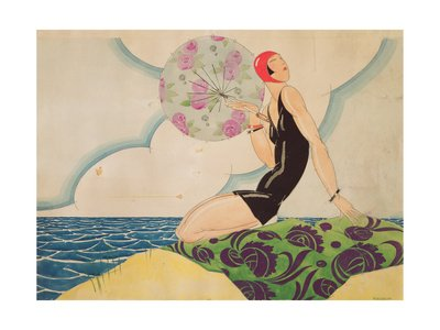 Bather - 1925 Print by Rene Vincent
