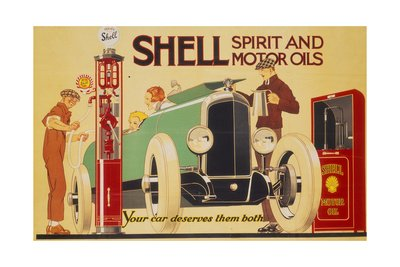 Shell Oil Poster by Rene Vincent