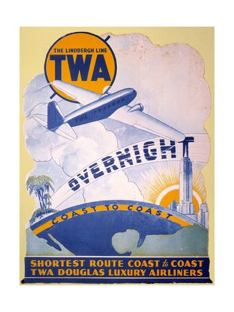 TWA 1934 Airline Poster