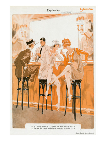 Flappers Gossiping at a Bar