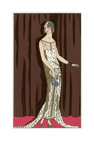 Young Lady in Evening Dress by Jeanne Lanvin